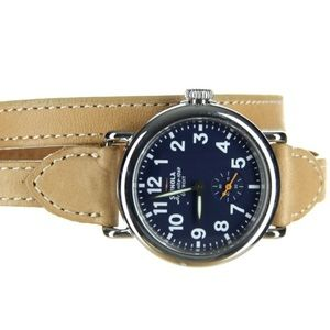 Shinola The Runwell 36mm Triple Wrap Leather Strap
